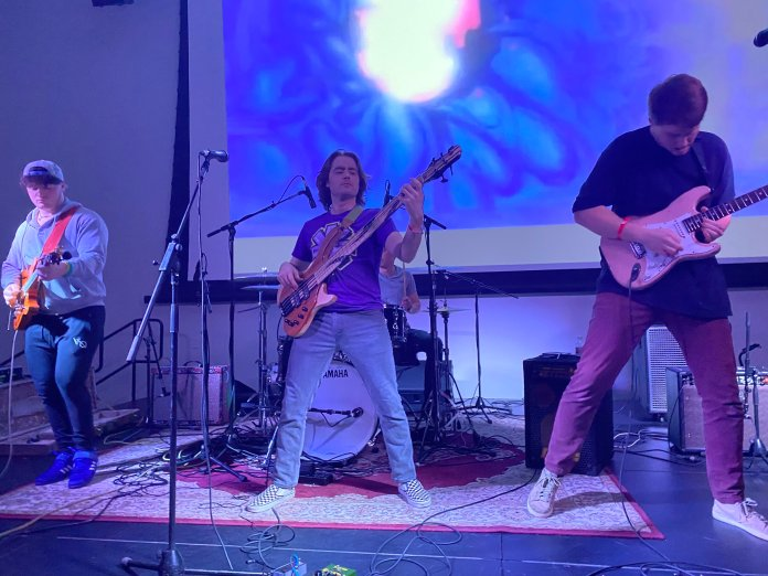 """One Time Weekend, an alt-rock band based out of Connecticut featured a set prolonged performance of """"Dr. Funk"""" and a slick guitar solo."""