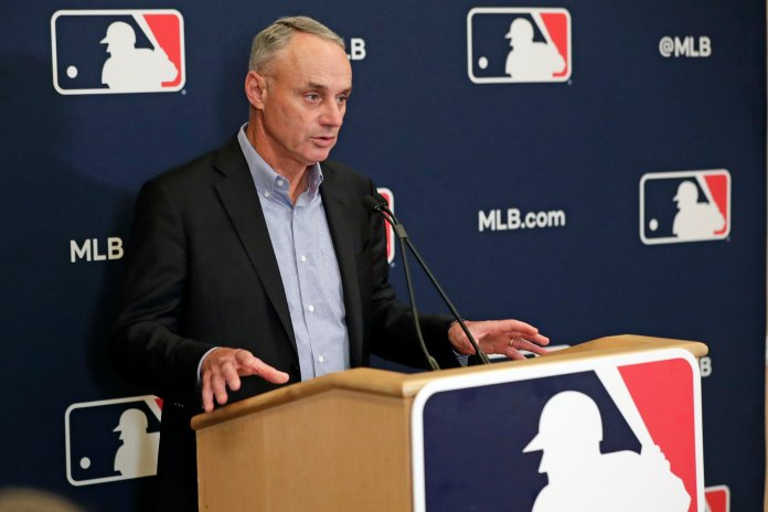 Dealing with the Astros is not the only news surround Manfred recently. He has also been under extreme crticism for the rule changes he has enlisted beginning next season.  Photo by John Raoux/AP.