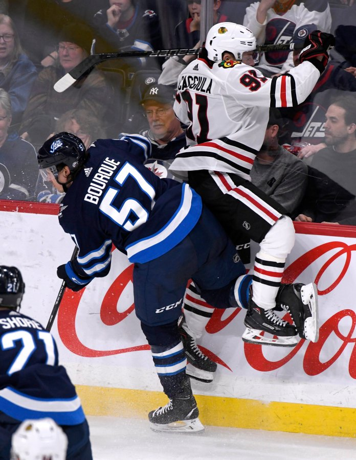 The NHL is known for being a brutal league full of hard hits and big injuries. Lately, however, the league has started to buckle down on injuries with increased suspensions and fines.  Photo by Fred Greenslade/AP.