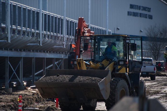 """""""The new Performance Center will consist of new team locker rooms for the baseball, softball soccer and lacrosse teams,"""" Michael Schrier, director of design and STEM projects, said.  Photo by Avery Bikerman/The Daily Campus"""