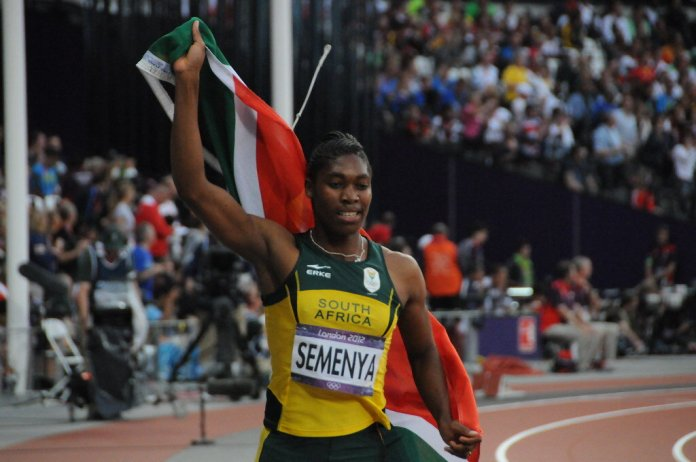 Caster Semenya competing in the London 2012 Olympics.  Photo by    Citizen59    via Flickr