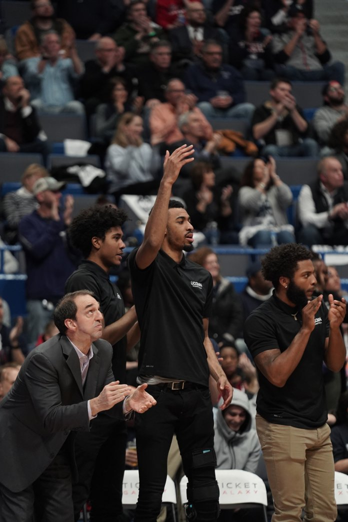 The UConn men's basketball team took another home win, this time against UCF with a final score of 81-65. Senior night will be week next week on March 5, against University of Houston.  Photo by Eric Wang/The Daily Campus
