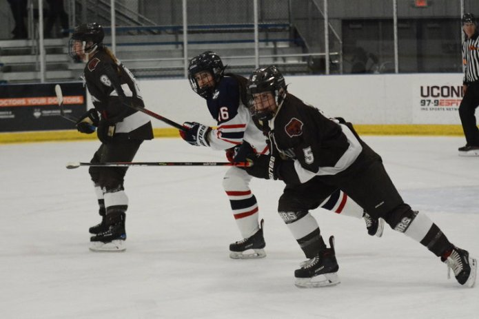UConn (8-5-1) proved that their first win against Boston College (11-3-1) was no fluke, beating Boston College 2-1 in Massachusetts on Friday, Nov. 22, 2019. The Huskies face Boston College again today 6 p.m. and Saturday at 2 p.m.  Photo by Mike Mavredakis / The Daily Campus.