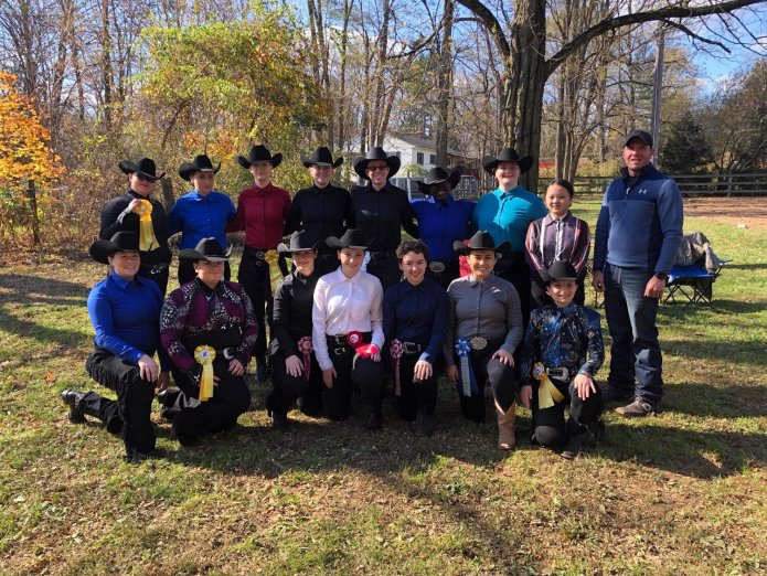 A photo of the UConn Western Team. On February 29th, the UConn Western Team hosted the Intercollegiate Horse Shows Association Regional Competition.  Photo Courtesy of the    UConn Western Team