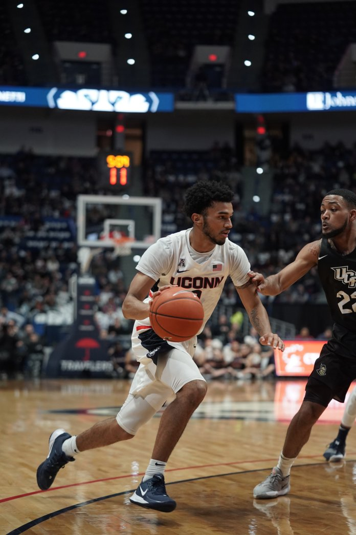 This game was UConn's most dominant win since they beat Miami nearly four months ago. It was a complete team effort to earn the win with four different players scoring in double digits.  Photo by Eric Wang/The Daily Campus.