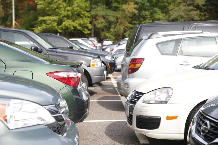 Pictures of I Lot show the commuter parking spots full during the day. Opinion Contributor Fizza Alam says commuters are underrated and it shows in UConn parking.  File photo/The Daily Campus