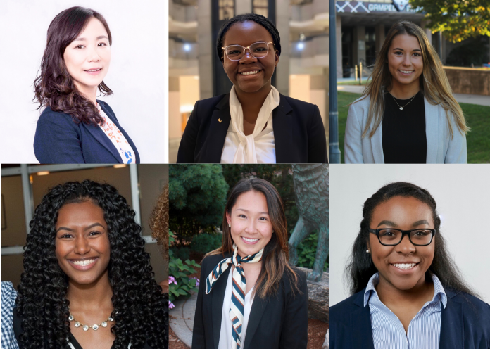 Left to right (starting from the top): Yiming Qian (Faculty Advisor), Rita Tonleu (Chief Diversity Officer), Kate Desautels (Vice President), Lauren Hipplewitz (Chief Financial Officer), Chloe Jihae Son (President), Andreanna Crawford (VP of Programming). The organization has 70 prospective members, and it hopes to continue to grow and reach all women in finance at UConn. The focus is on intensive programming geared towards women in finance.   Images courtesy of Chloe Son