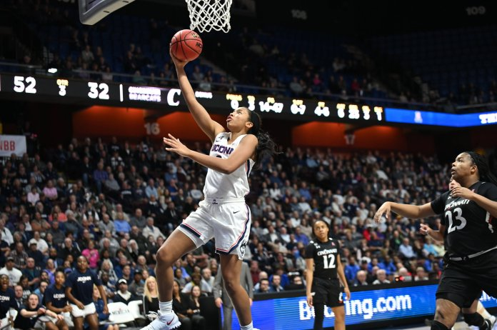 Megan Walker scored a team-high 26 points in the championship game. She backed up her AAC Player of the Year honors with a stellar performance in the conference tourney.  Photo by Kevin Lindstrom/The Daily Campus.