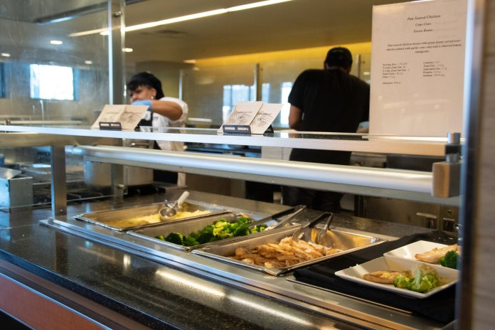 Meals are portioned at McMahon Dining Hall in four and six ounce servings.  Photos courtesy of Avery Bikerman / The Daily Campus.