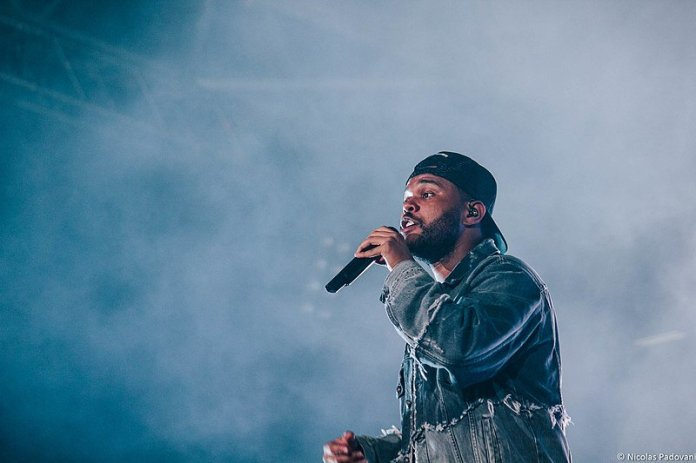 The Weeknd performs at a concert in July 2018. His new album, After Hours, was released recently.  Photo in the    public domain   .