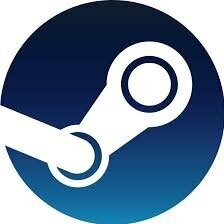 An image of the  Steam  logo. Steam is one of the most popular social gaming platforms.