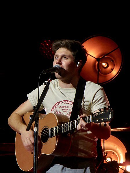 Singer Niall Horan performing in 2018.  Photo in the    public domain