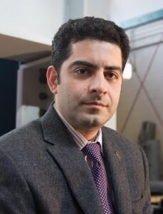 Arash Zaghi, a professor of civil and environmental engineering at the University of Connecticut. Among other researchers, Zaghi is patenting measures to improve Connecticut's bridges.  Photo courtesy of the University of Connecticut's Institute of Material Sciences