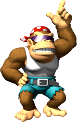 Image of Funky Kong courtesy of    Mario Super Sluggers    on    mariowiki.com   .