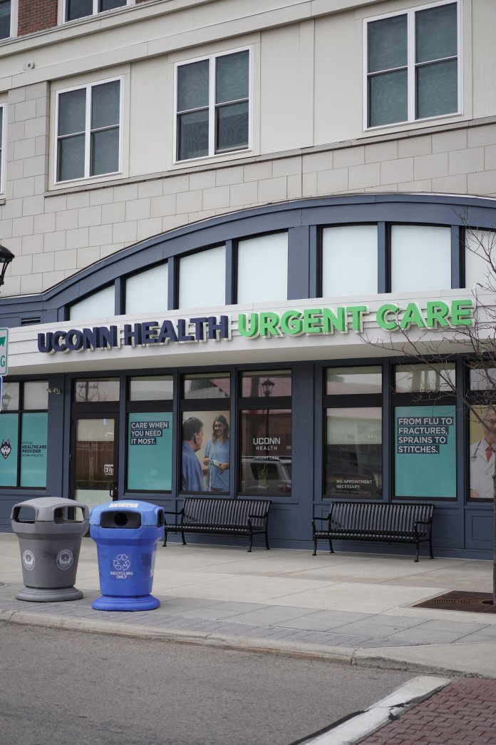 UConn Health has a facility in Downtown Storrs. Cory Edgar, a UConn Health doctor from West Hartford, was arrested Mar. 24 on misdemeanor charges for breach of peace. Witnesses say the doctor intentionally coughed on two other medical employees.  Photo by Eric Wang/The Daily Campus