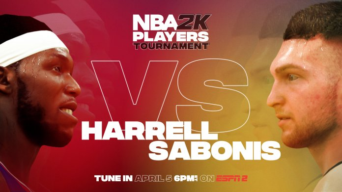 Sunday's games kicked off with a matchup between Montrezl Harrell and Domantas Sabonis. Harrell used his experience to make quick work of the Lithuanian, winning 73-51.  Photo via Twitter @NBA2k.