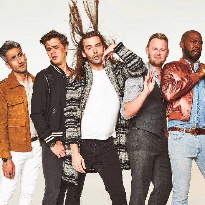 "Netflix's ""Queer Eye"" stars Jonathan Van Ness, Antoni Porowski, Tan France, Karamo Brown and Bobby Berk.  Photo via    @queereye"