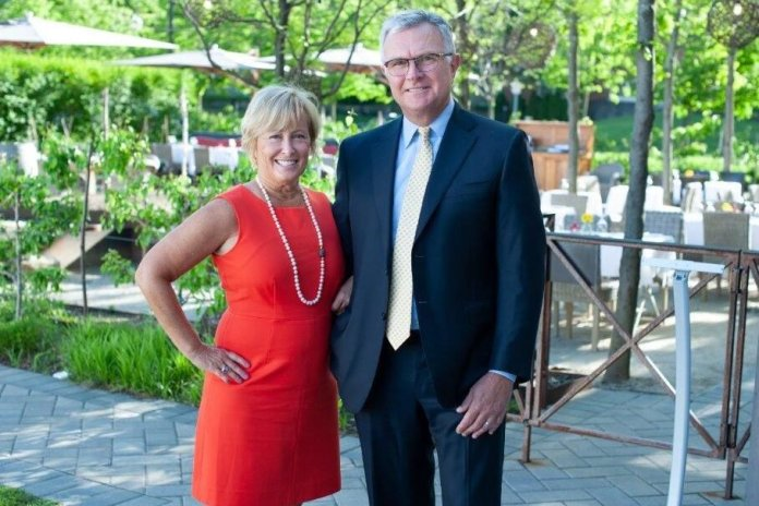 Donna and John Krecki, donors for the Krecki Arts and Engineering Institute.  Photo courtesy of    UConn Today