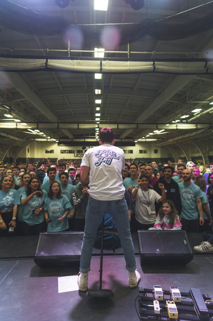 Nick Smeriglio of Kids That Fly at HuskyTHON 2020.  Photo by Charlotte Lao/The Daily Campus