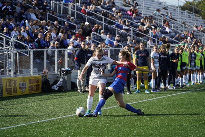 In an up-and-down year, the UConn women's soccer team made some big improvements but ultimately came up just short of a spot in the American Athletic Conference Tournament. They will have plenty to build off of as they prepare to join the Big East in 2020.  Photo by Eric Wang/The Daily Campus.