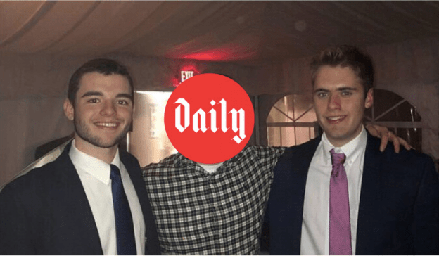 Associate Sports Editor Kevin Arnold, left, and Sports Editor Andrew Morrison, right, with incoming Sports Editor Danny Barletta.  Photo provided by authors.