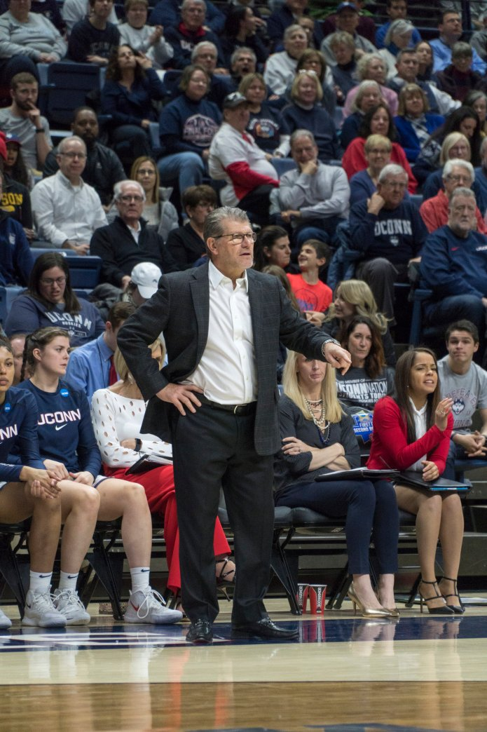 Geno Auriemma in March 2019.  File photo/The Daily Campus