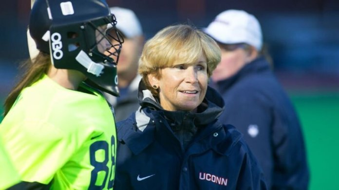 UConn coach Nancy Stevens has amassed more field hockey victories than anyone in history. File photo/The Daily Campus
