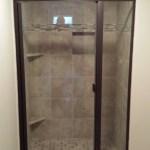 Semi Frameless Preferred Shelving Bath