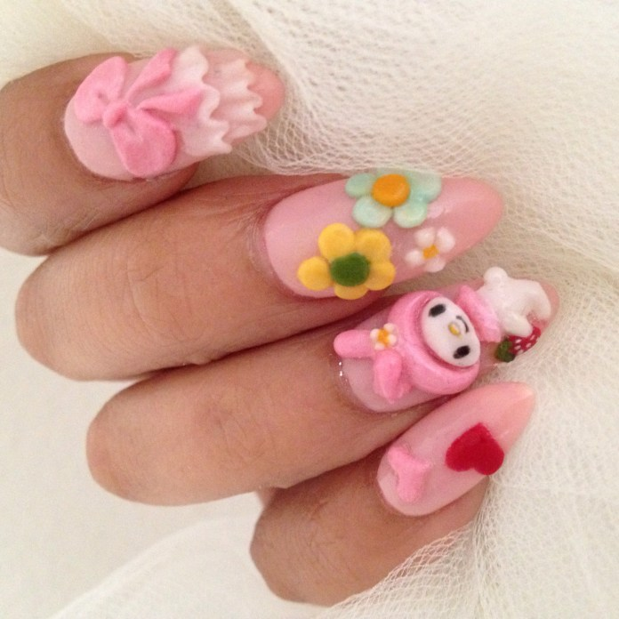 Now Offering Japanese Nail Design Kawaii Nails And 3d Nail Art Hello Birdie Nail Lash Lab