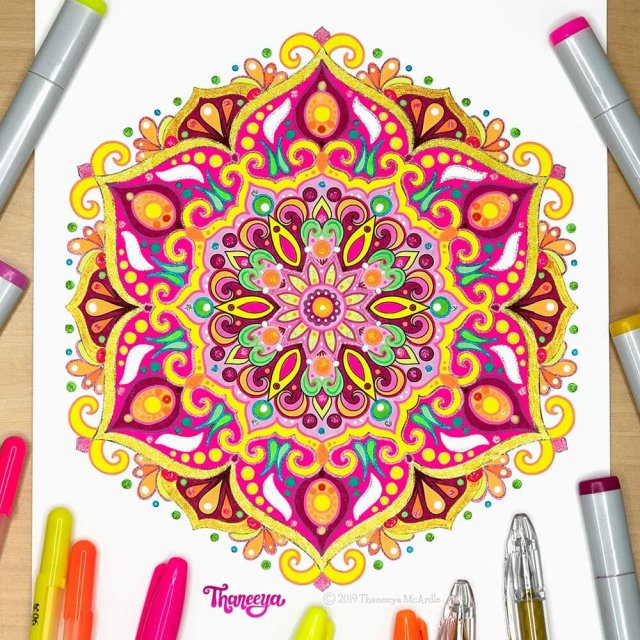 Detailed Mandala Coloring Pages - Fun Printable Coloring Pages to