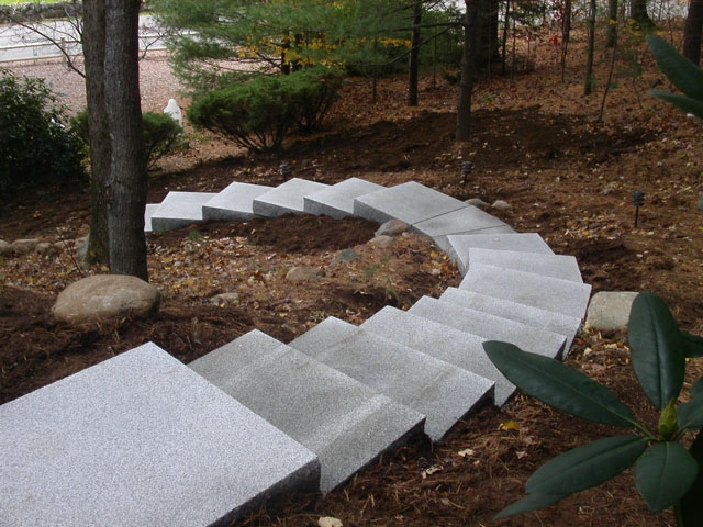 Entrances And Steps Landscaping In Ma — Natural Path Landscaping | Outside Steps For House | Front Door | Entryway | Decorative | Ranch Style House | Beautiful