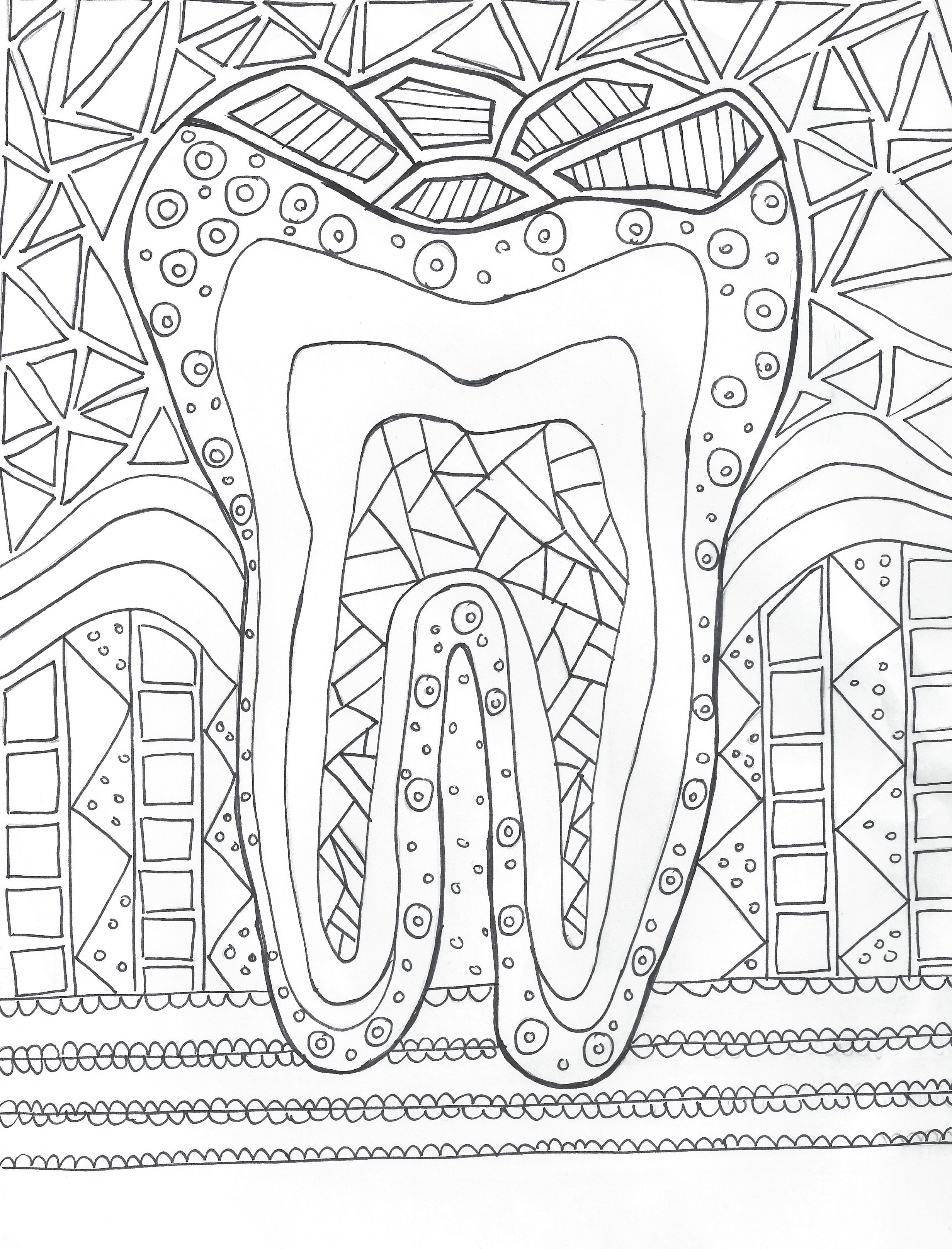 Dental Hygiene Coloring Hygiene Edge