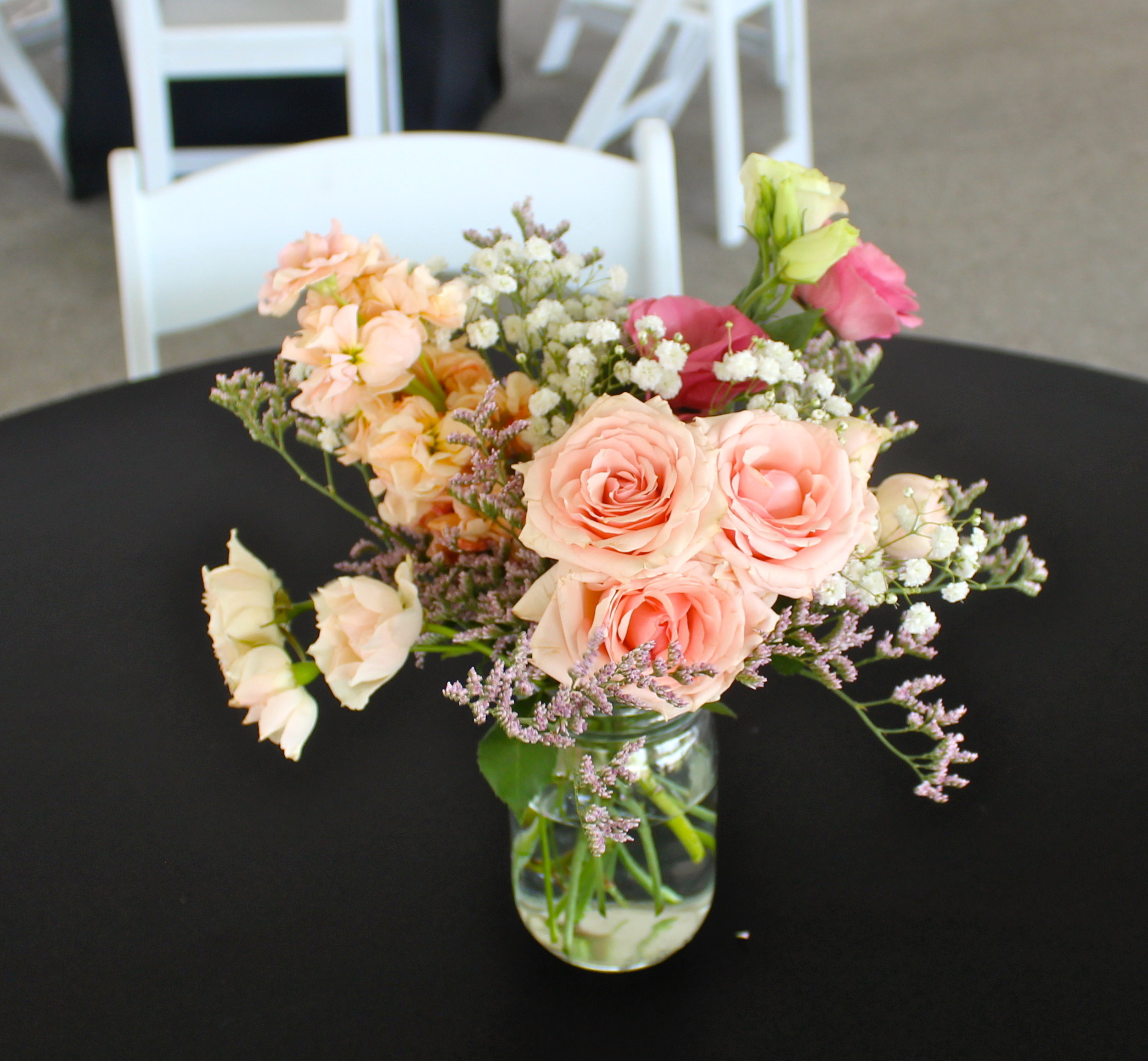 clover and honey florals for reception