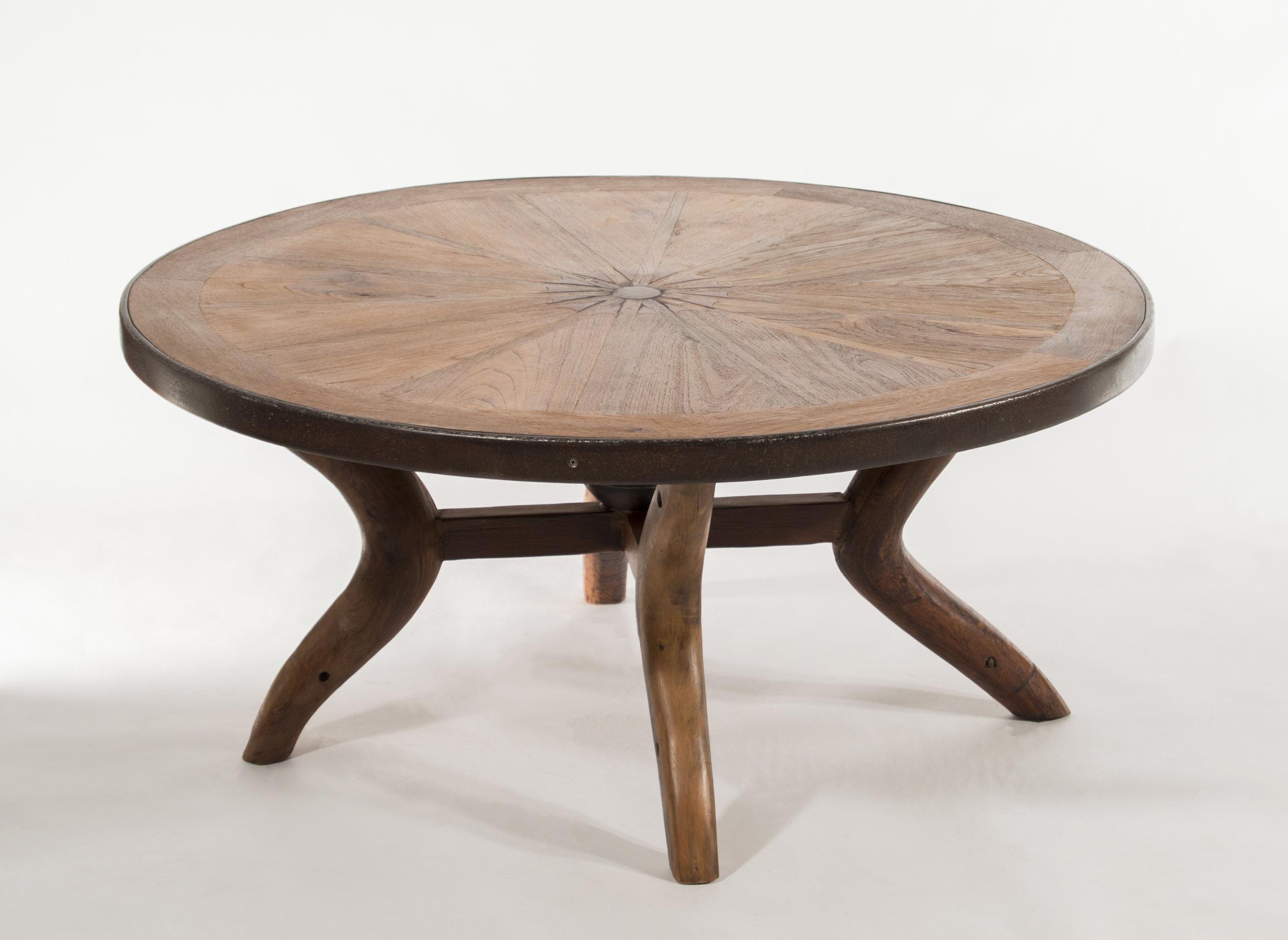 wagon wheel coffee table living room furniture teak west