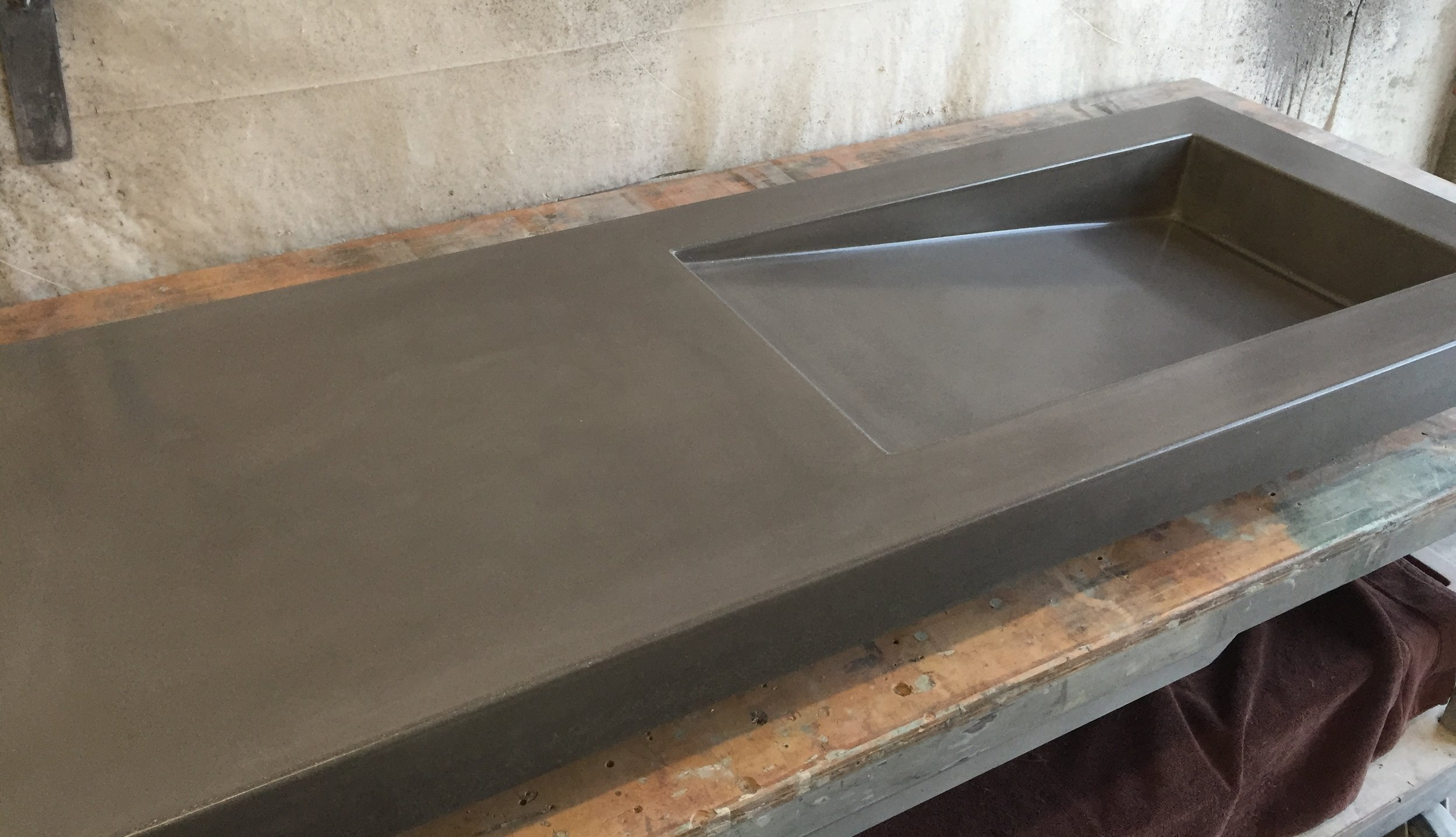 concrete sink side ramp made to order opusconcrete