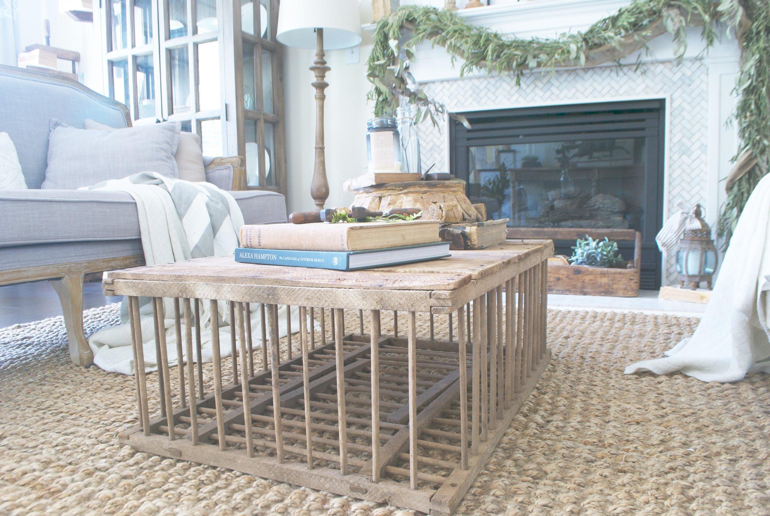 cozy french farmhouse living room