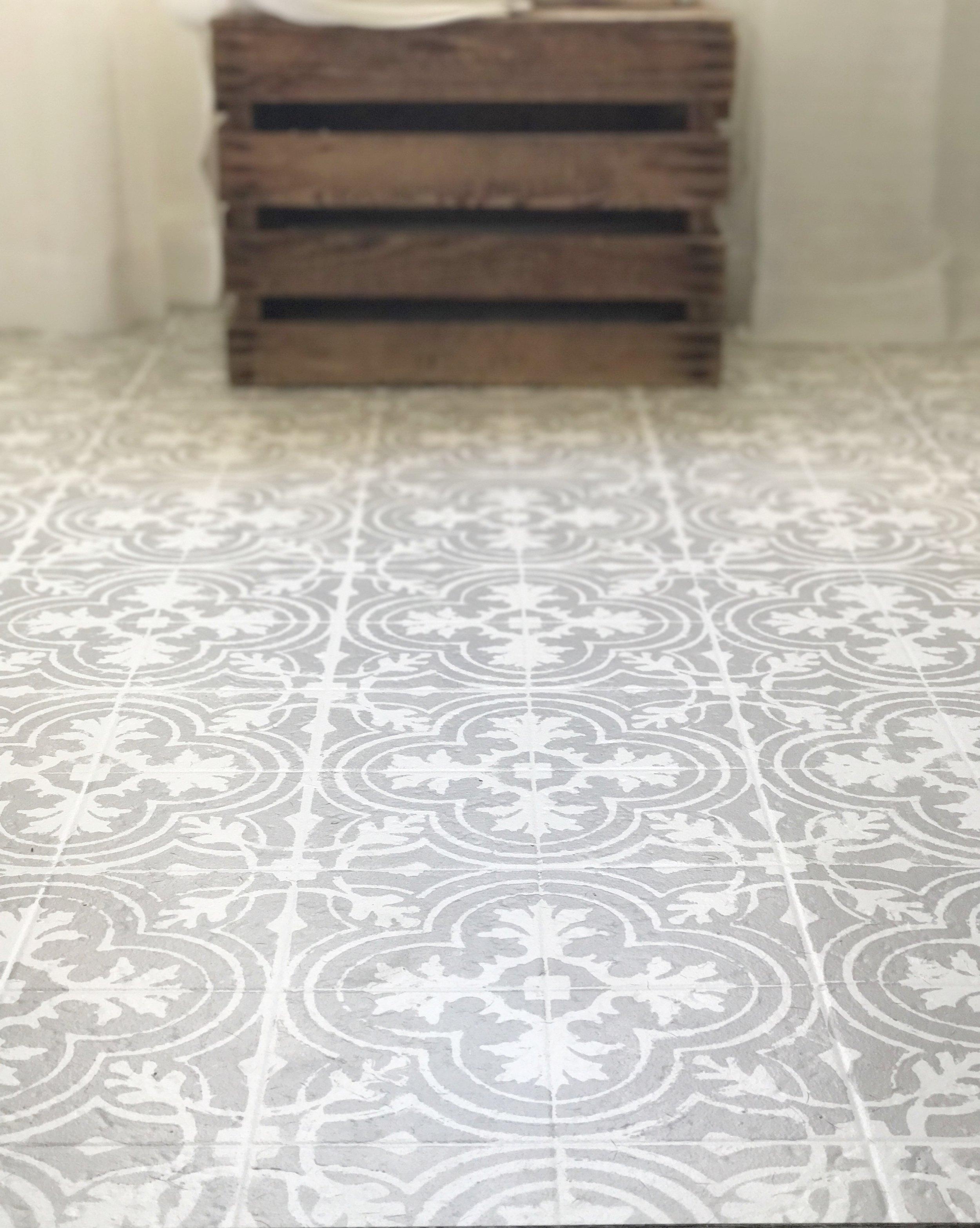 paint your linoleum or tile floors