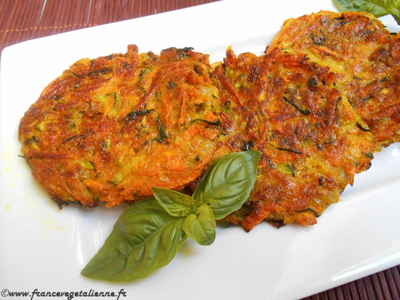 galettes de courgettes carottes