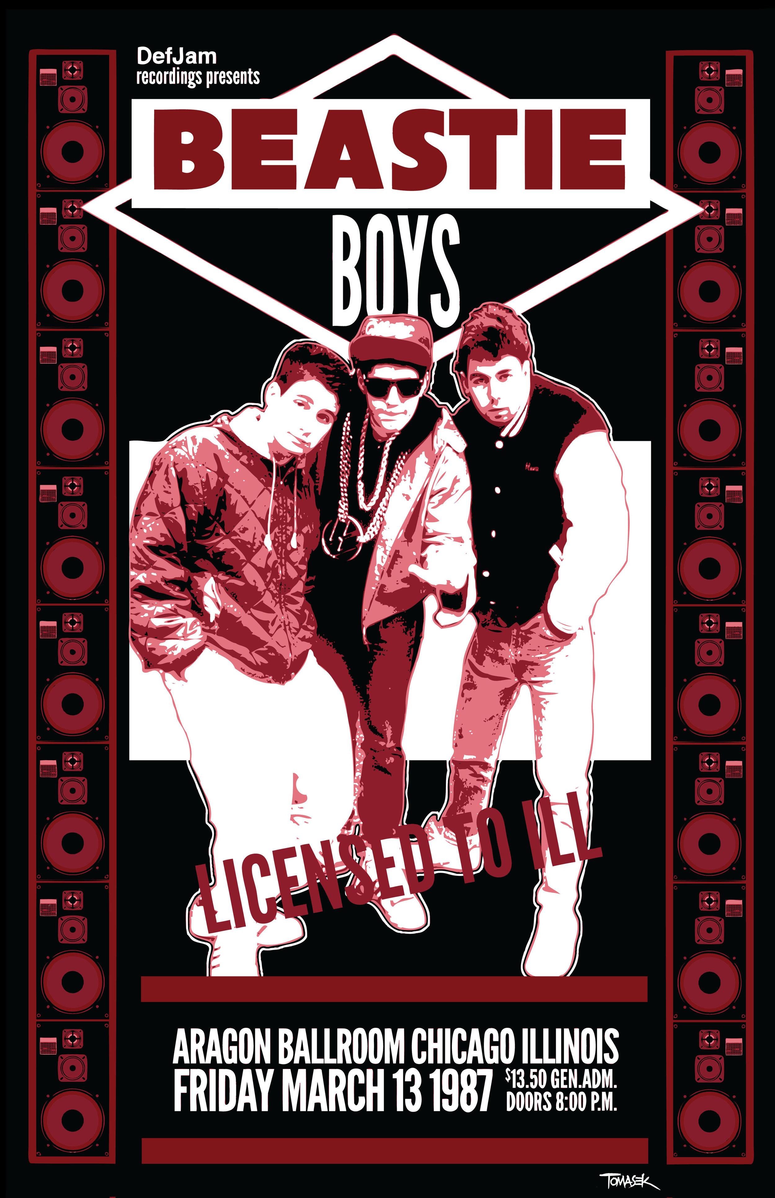 beastie boys 11 x 17 concert poster the artworks of dean tomasek