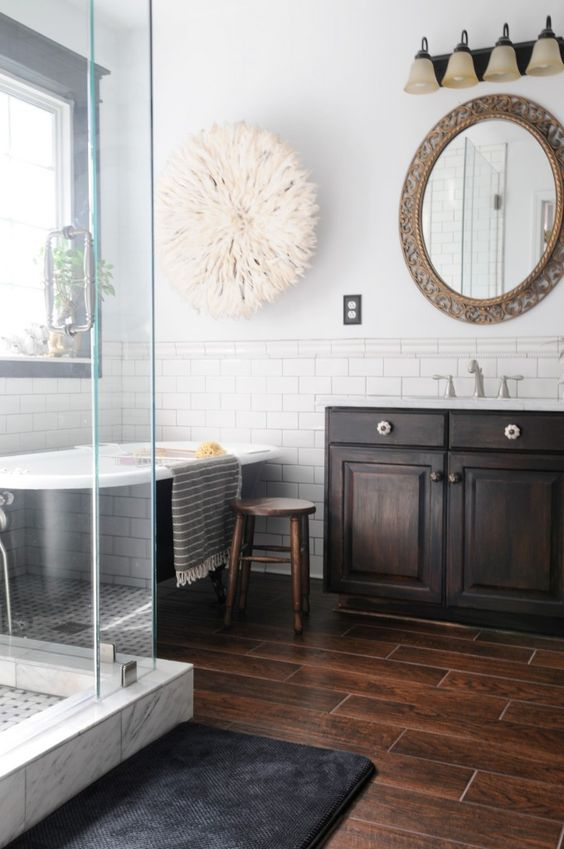 dark floor bathroom designs