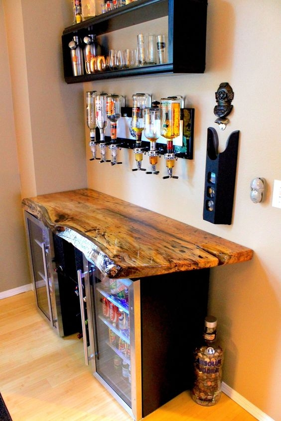 35 Outstanding Home Bar Ideas And Designs — Renoguide Australian | Mini Bar Design Under Stairs | Stairs Cupboard | Basement Remodeling | Wine | Storage | Basement Stairs Ideas