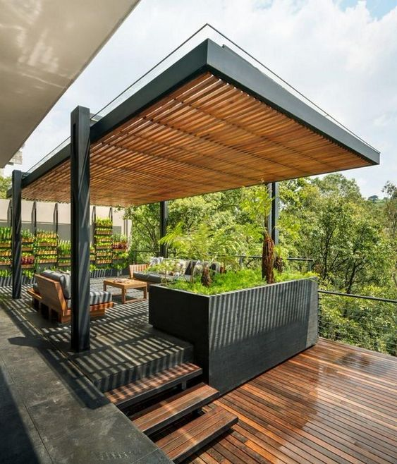 45 modern deck and patio ideas and designs renoguide Modern Patio Deck id=63642