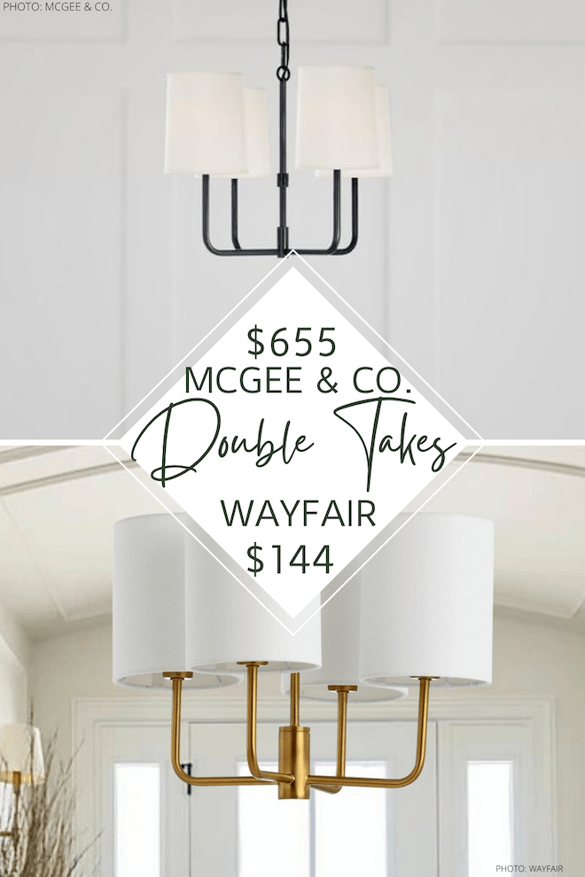mcgee co go lightly chandelier dupe