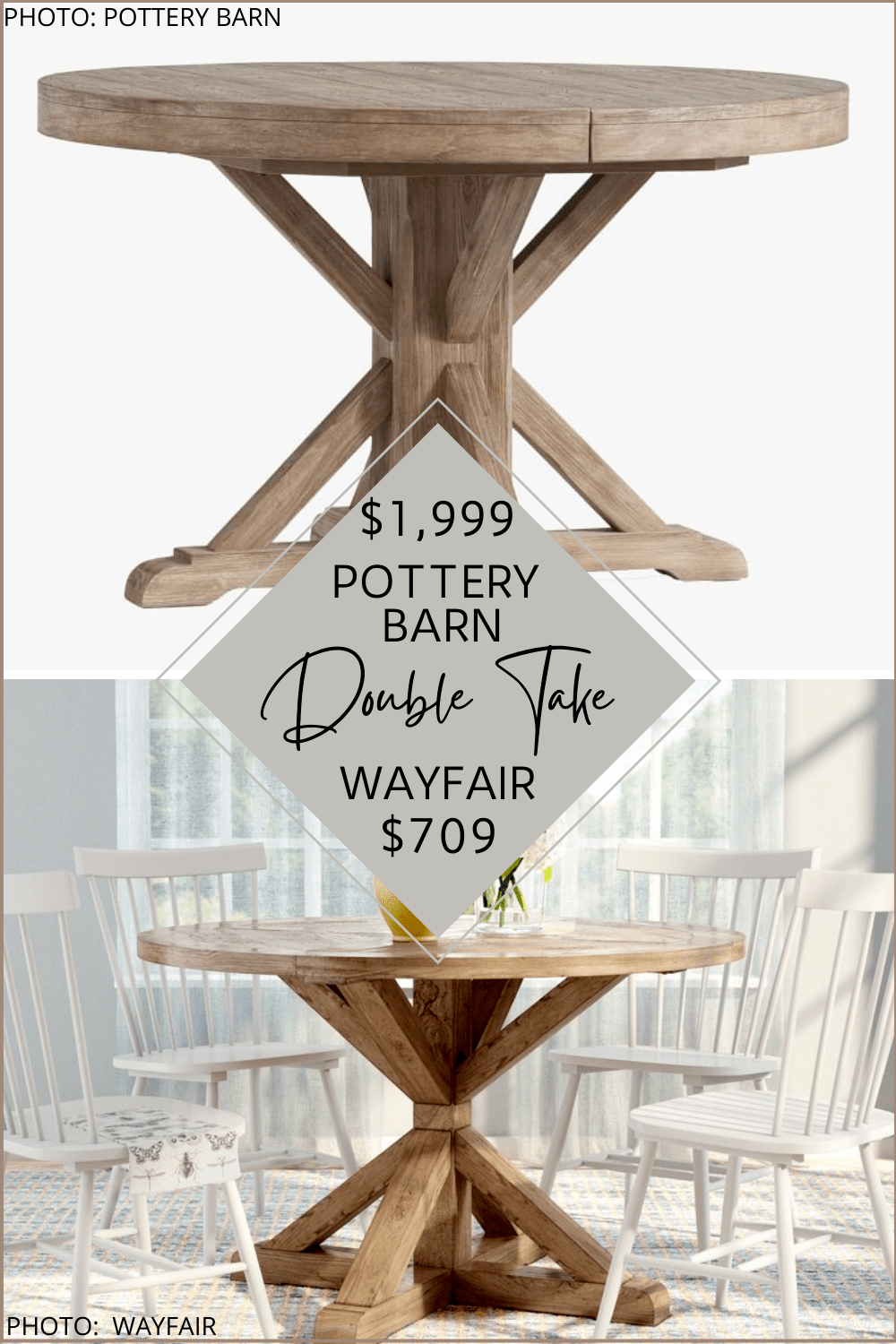 pottery barn benchwright round dining