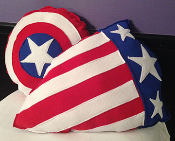 captain america pillows sew nerdy