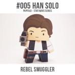 Papercraft imprimible y armable de Han Solo de Star Wars. Manualidades a Raudales.