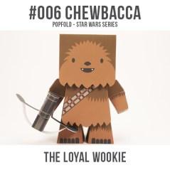 Papercraft imprimible y recortable de Chewbacca de Star Wars. Manualidades a Raudales.