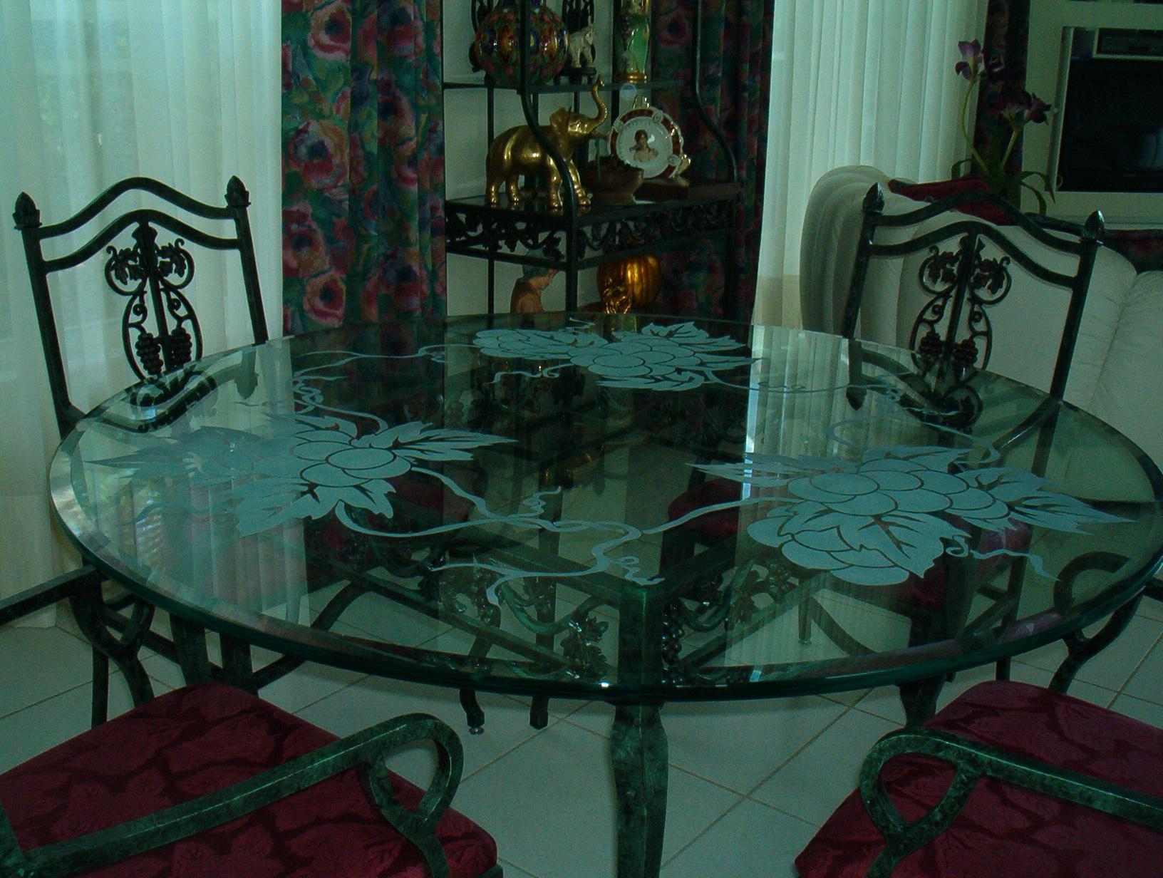 table tops unique glass art