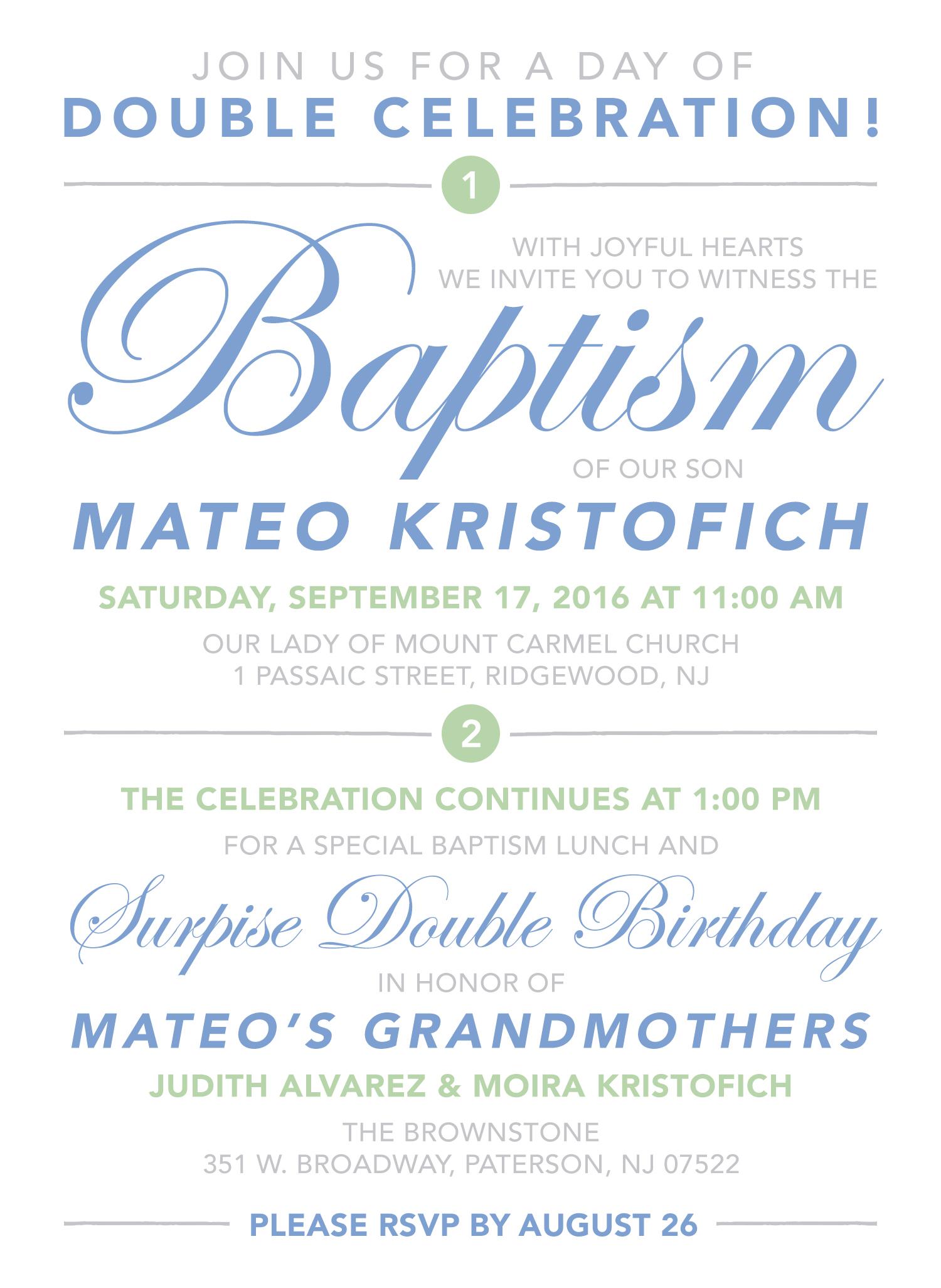 double celebration invitation drawn
