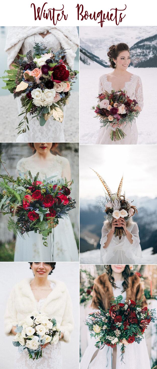 Wonderful Winter Wedding Bouquets